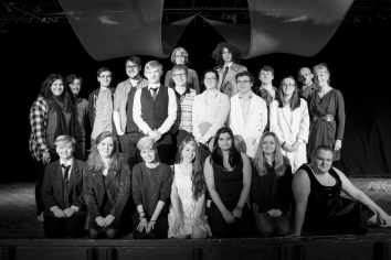 The cast and crew of Undertaking. Photograph by Molly Barnes